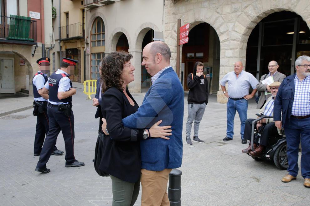 Teresa Jordà, la flamant consellera d'Agricultura, es va estrenar ahir a la Noguera inaugurant l'última fase del canal Algerri-Balaguer