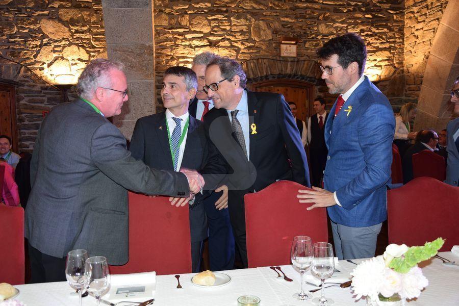 El president de la Generalitat, Quim Torra, pronuncia la conferència inaugural.