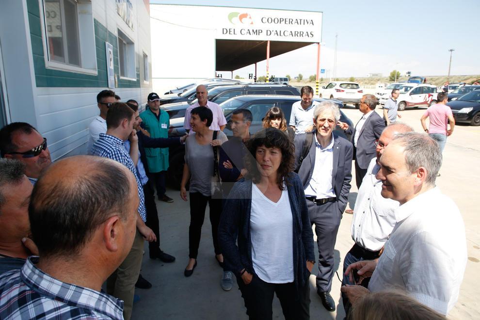 La consellera Jordà visita les zones afectades per les pedregades al pla de Lleida