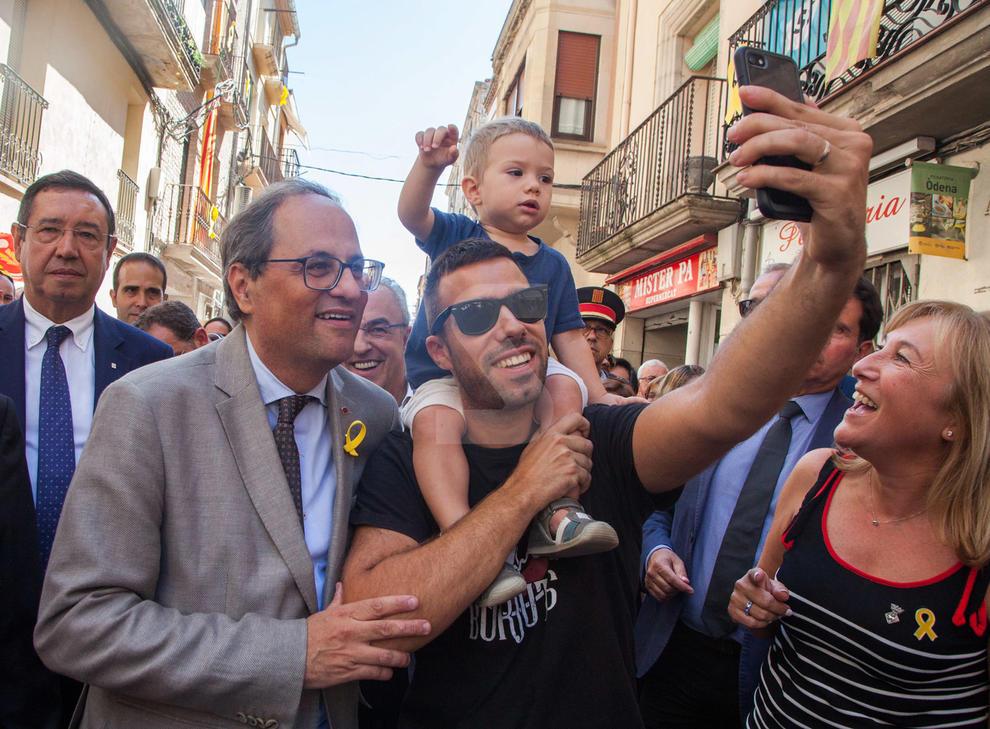 El president Quim Torra va visitar les Borges Blanques en motiu de la festa major.