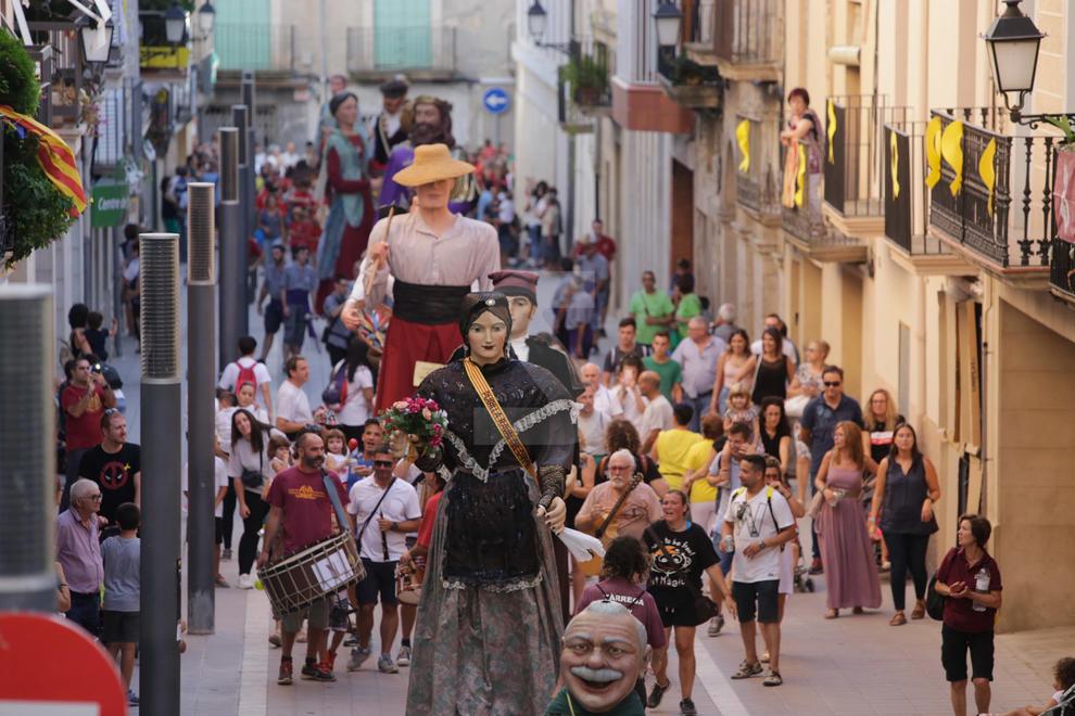 Trobada Gegantera a la festa major de les Borges Blanques