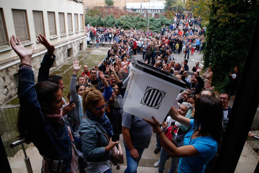 Votacions a l'IES Joan Oró de Lleida