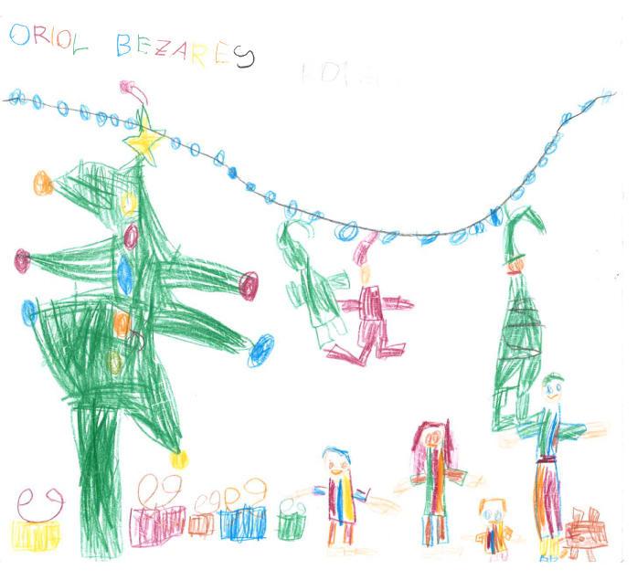 Dibuixa'ns com imagines el teu Nadal.