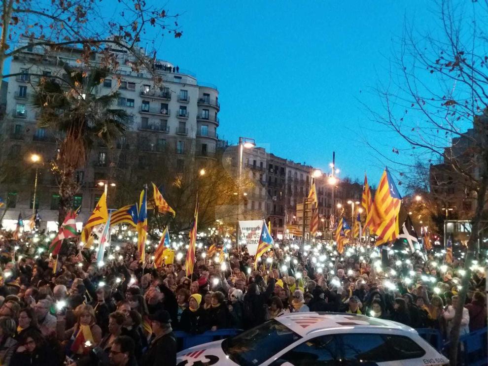 Fotografies dels lleidatans a la protesta a la Gran Via
