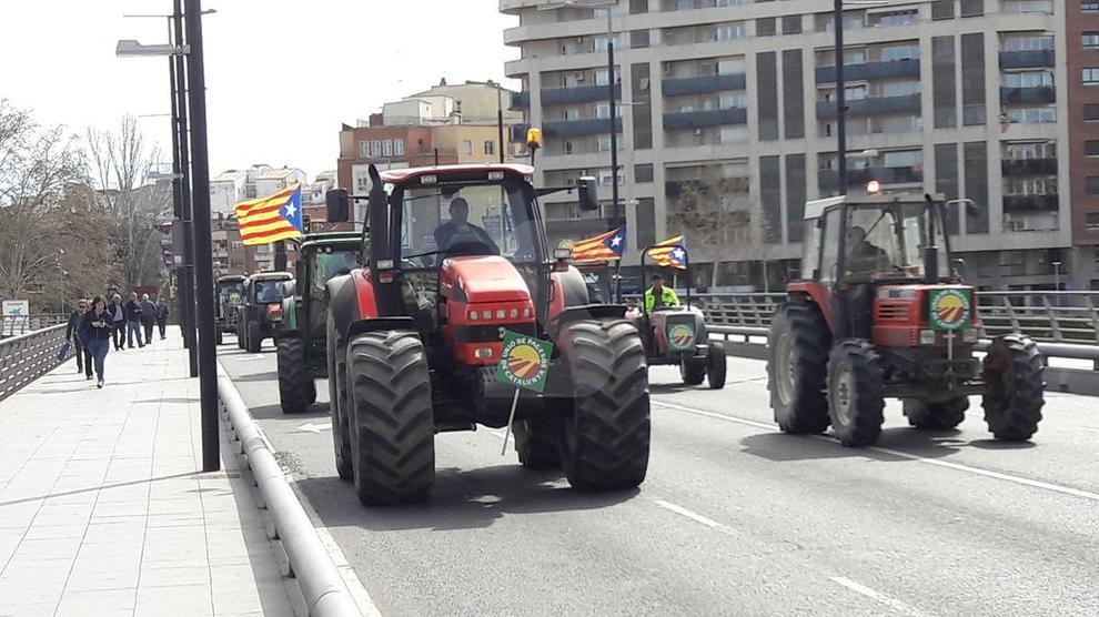 La manifestación ha finalizado delante de la subdelegación del Gobierno en Lleida