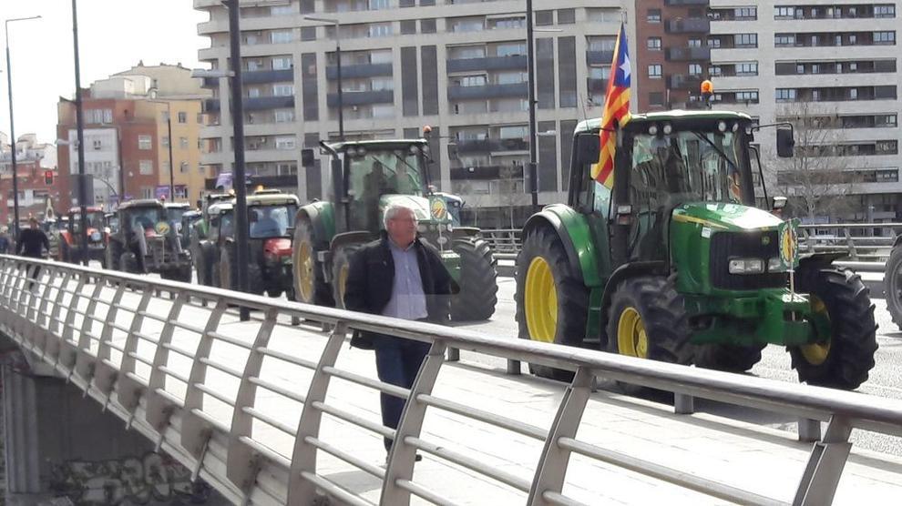 La manifestació ha finalitzat davant de la subdelegació del Govern espanyol a Lleida