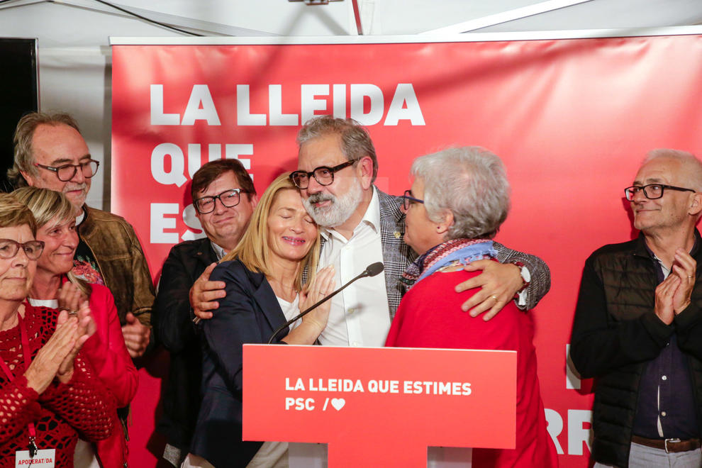 El PSC de Fèlix Larrosa empata amb ERC però perd l'alcaldia de Lleida, que no serà socialista en 40 anys