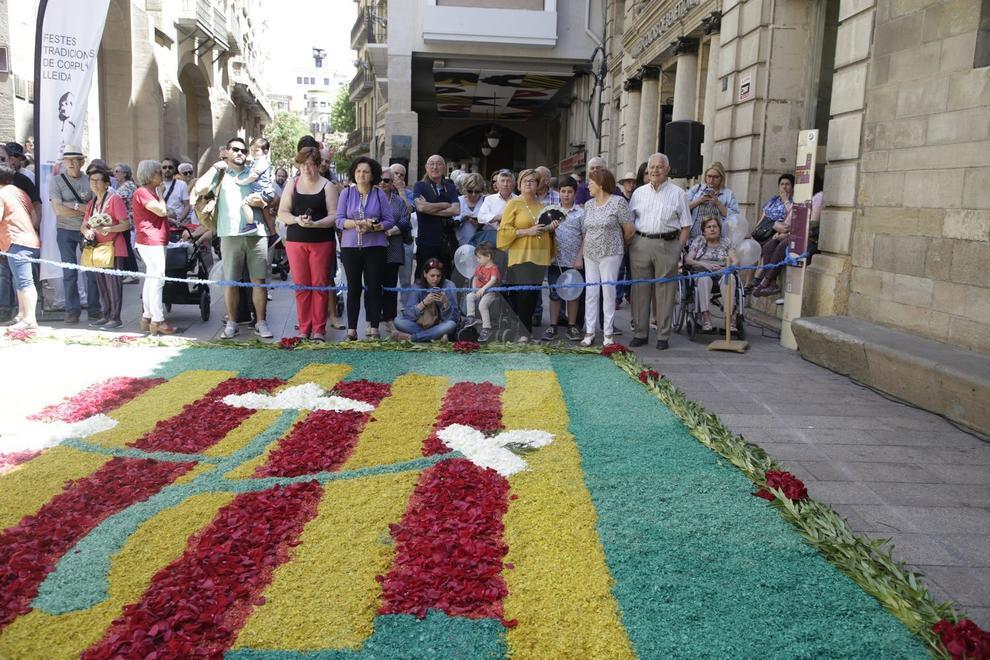 Diecisiete alfombras de colores decoran el Eje Comercial