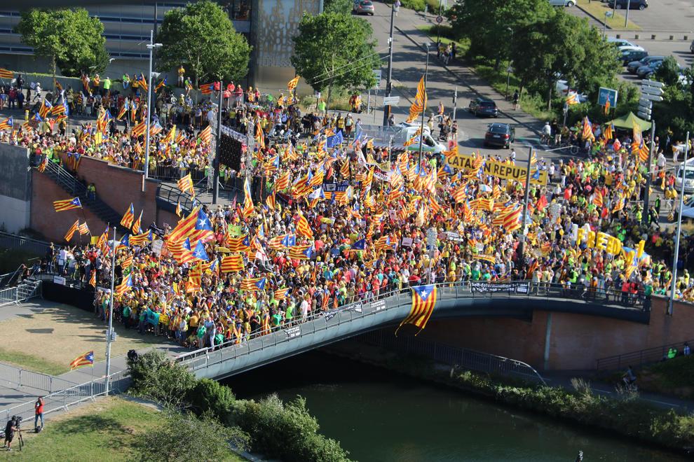 Más de seiscientos leridanos en la manifestación de Estrasburgo