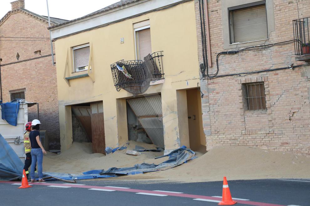 Apuntalen un dels habitatges afectats
