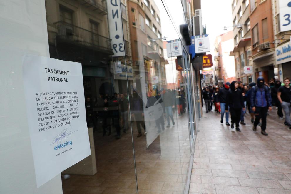 Imatges de la vaga a la ciutat de Lleida
