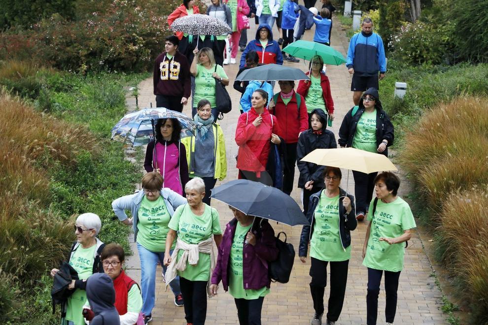 Participaron 1.500 personas a pesar de la lluvia.