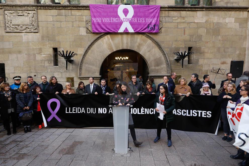 Acte institucional del Dia internacional contra la violència masclista a la Paeria