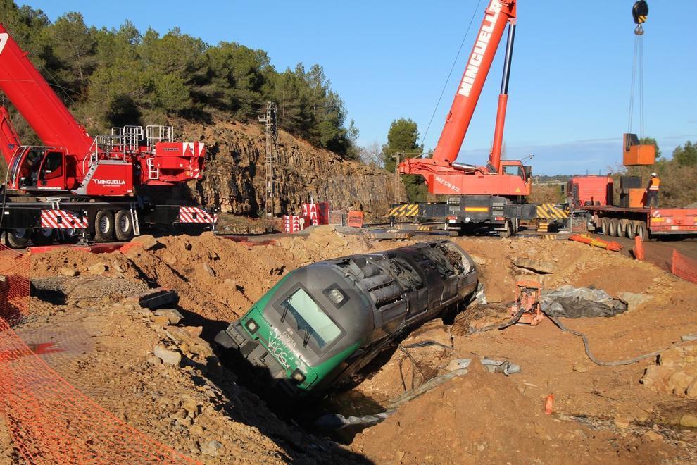 Quan es compleixen dos mesos del temporal que va provocar greus destrosses a la línia de Lleida a Barcelona per la costa