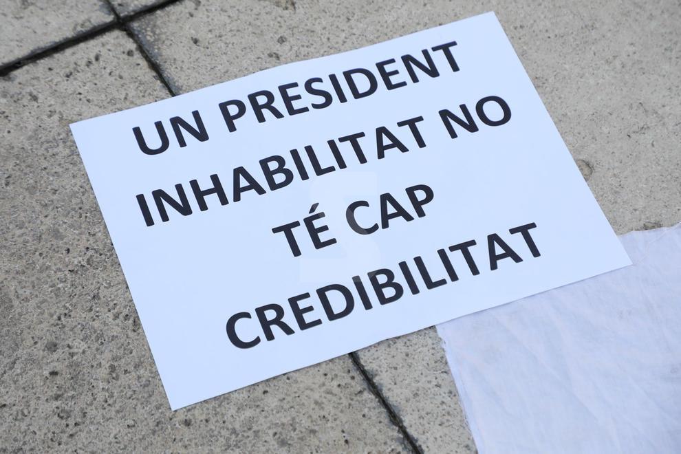 Manifestació d'hostalers i restauradors a Lleida